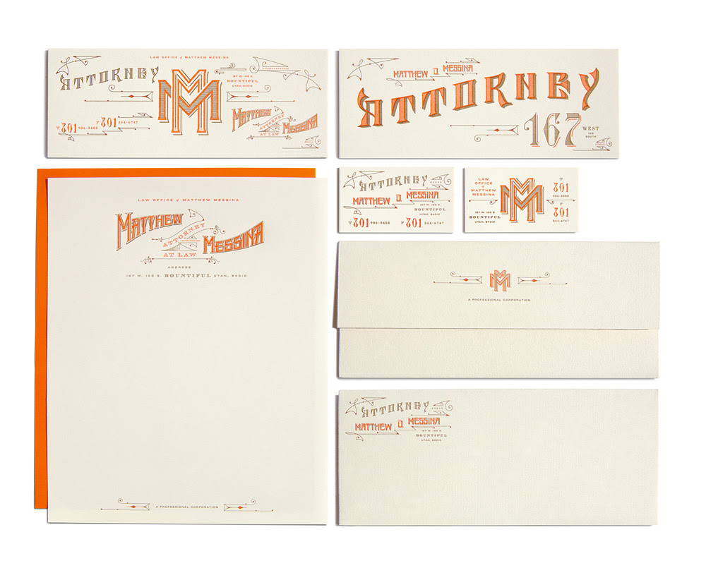 lovely package the law office of matthew messina 41 60 Professional Examples of Stationery Design