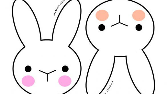 Rabbit Head Silhouette at GetDrawings | Free download