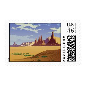 Arizona Landscape stamp