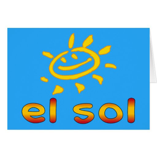 El Sol The Sun in Spanish Summer Vacation Card | Zazzle