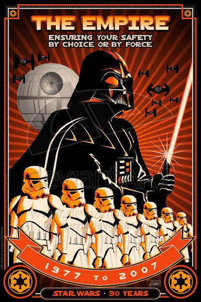 The Empire Keeping You Safe Propaganda Poster