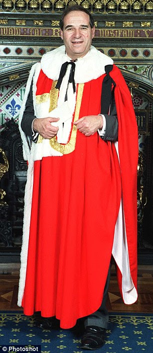 Fiona Woolf hosted a drinks reception for City dignitaries, including Lord Brittan, pictured
