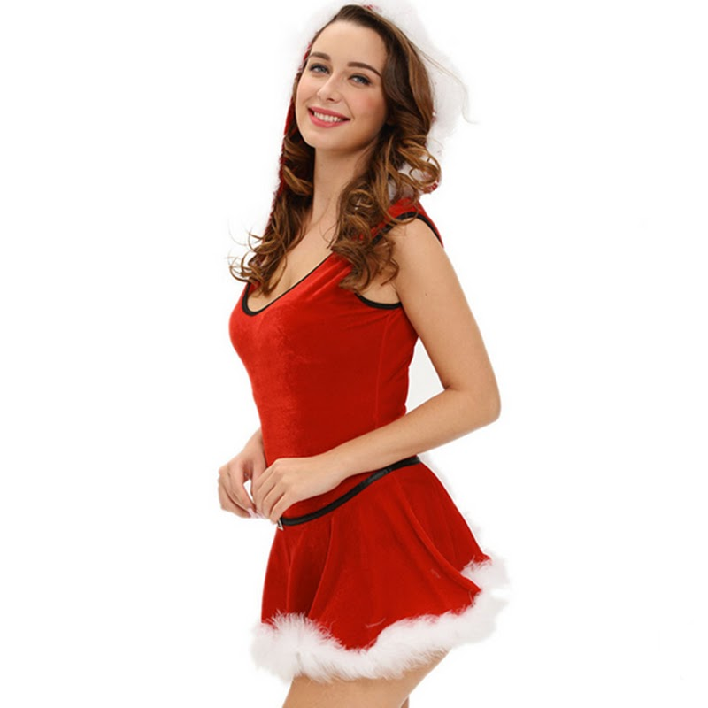 Cheap  Good Quality Big Size Plus Size XXXL Sexy Lingerie Christmas Party Costumes Dress Cosplay Sexy Chri
