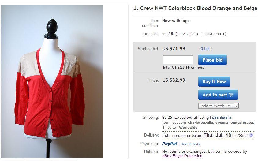 j crew colorblock, platinum&rust