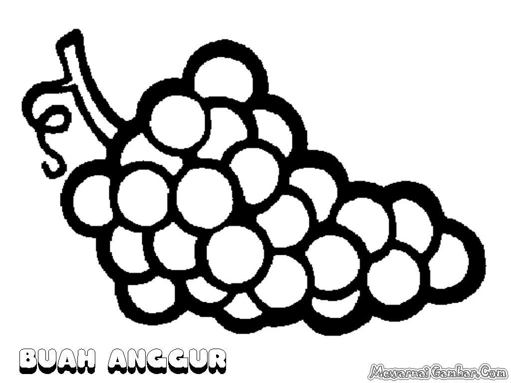 Mewarnai Gambar Mewarnai Gambar Sketsa Buah Anggur 1 Auto