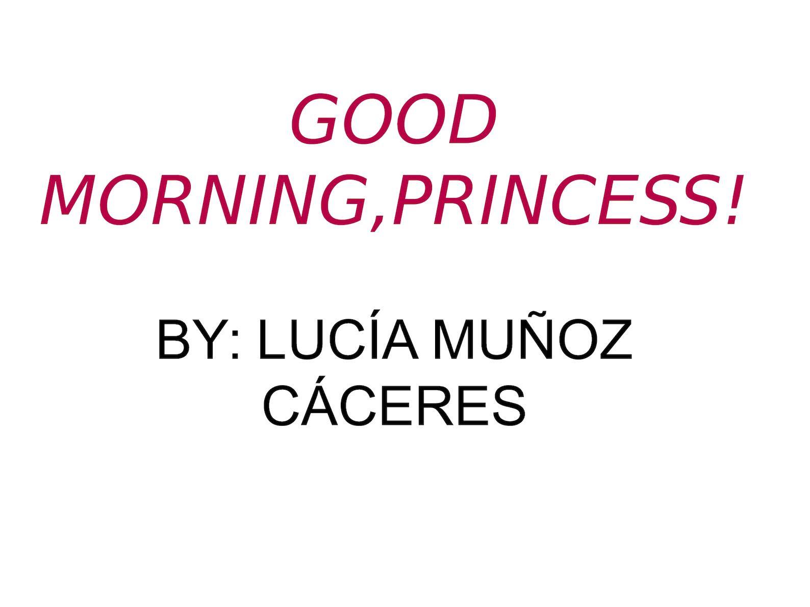 Calaméo Good Morning Princess Lucía Muñoz