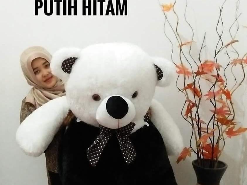 boneka panda gambar panda hitam putih lucu  boneka baru