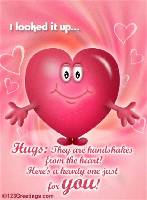 A Hearty Hug! Free Friendly Hugs eCards, Greeting Cards