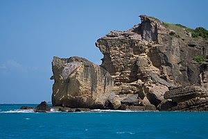 Rocky cliff in Antigua