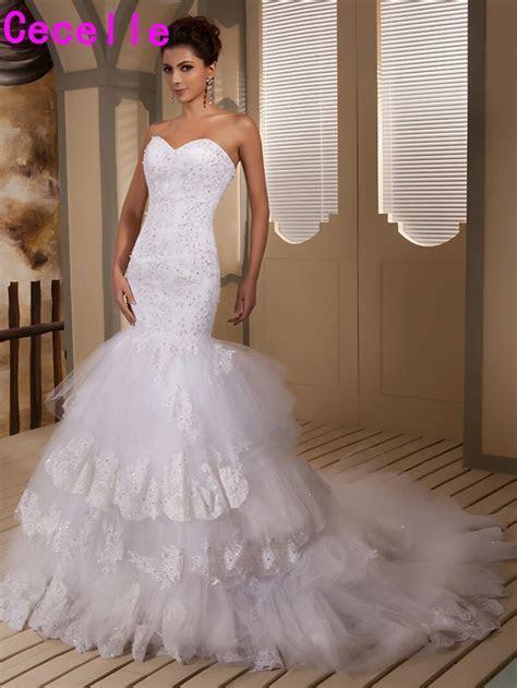 2019 Real Designer Mermaid Sweetheart Wedding Dresses