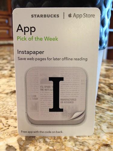 Starbucks iTunes Pick of the Week - Instapaper