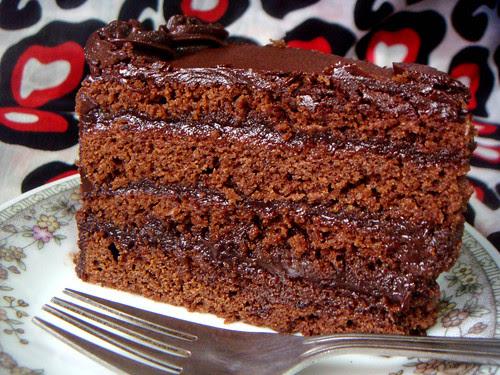 Slice of Chocolate Blackout Cake