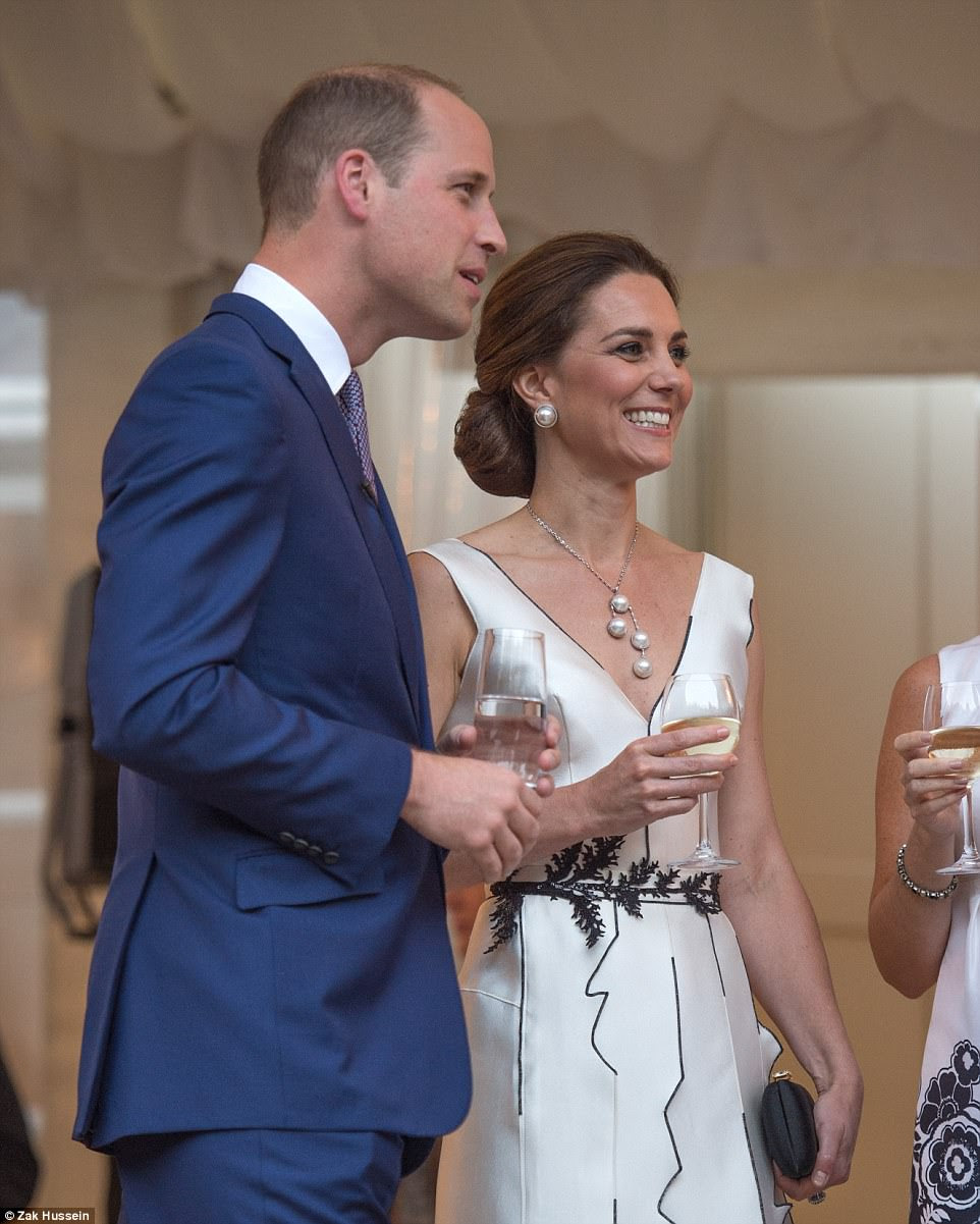 The Duke and Duchess were visiting The Heart, an incubator for digital and tech start-ups in the Polish capital, on the first day of their Poland and Germany tour - seen by many as a Brexit charm offensive