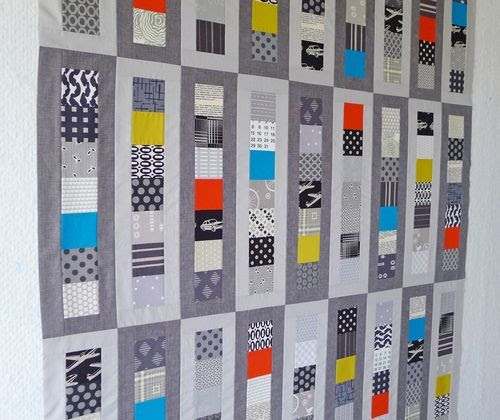 Modern Quilts Patterns | love this finished quilt top! I switched out the Kona Oyster that I ...
