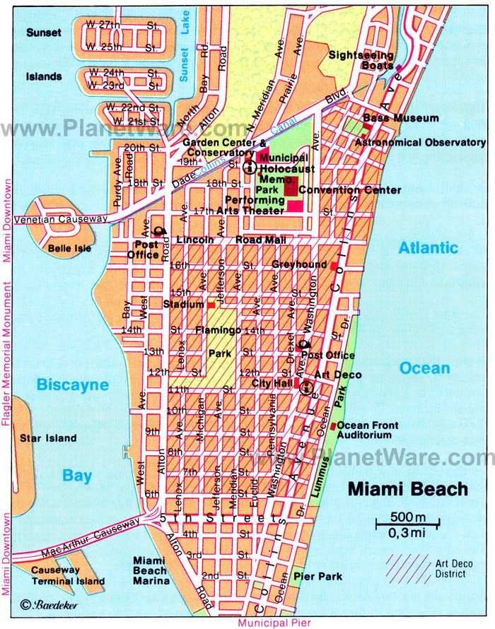 show me a map of miami | draw a topographic map