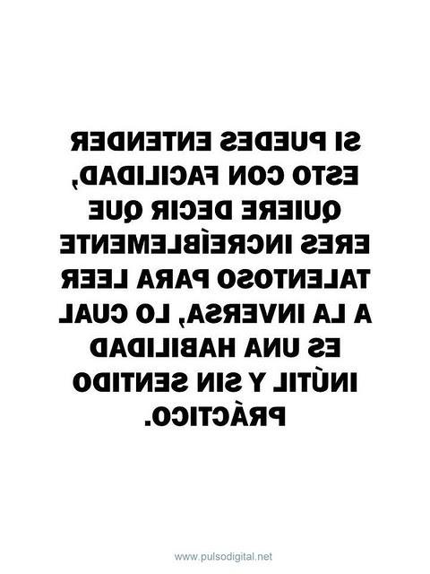 Si puedes leer esto