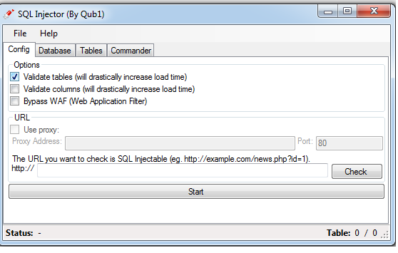 SQL Injector v1.0.0.2 By Qub1 2019