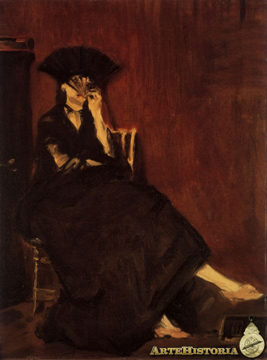 Berthe Morisot con abanico