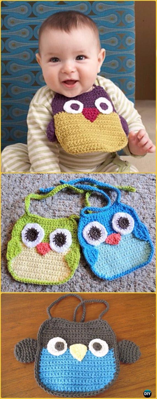 Crochet Owl Baby Bib Free Pattern Crochet Baby Shower Gift Ideas