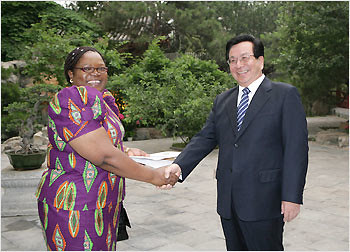 Vice-President Joice Mujuru With Her Chinese Counterpart, Zeng Qinghong by Pan-African News Wire Photo File