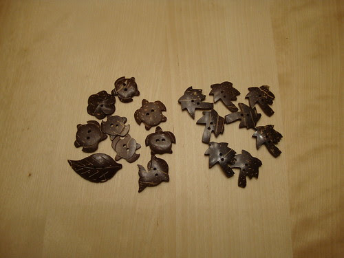 coconut shell buttons from Hawaii