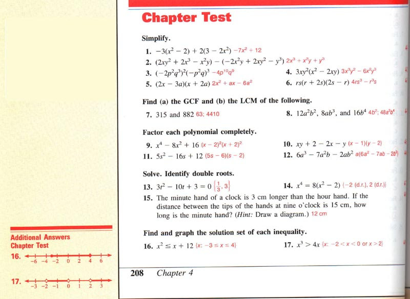 Test form 1a chapter 2