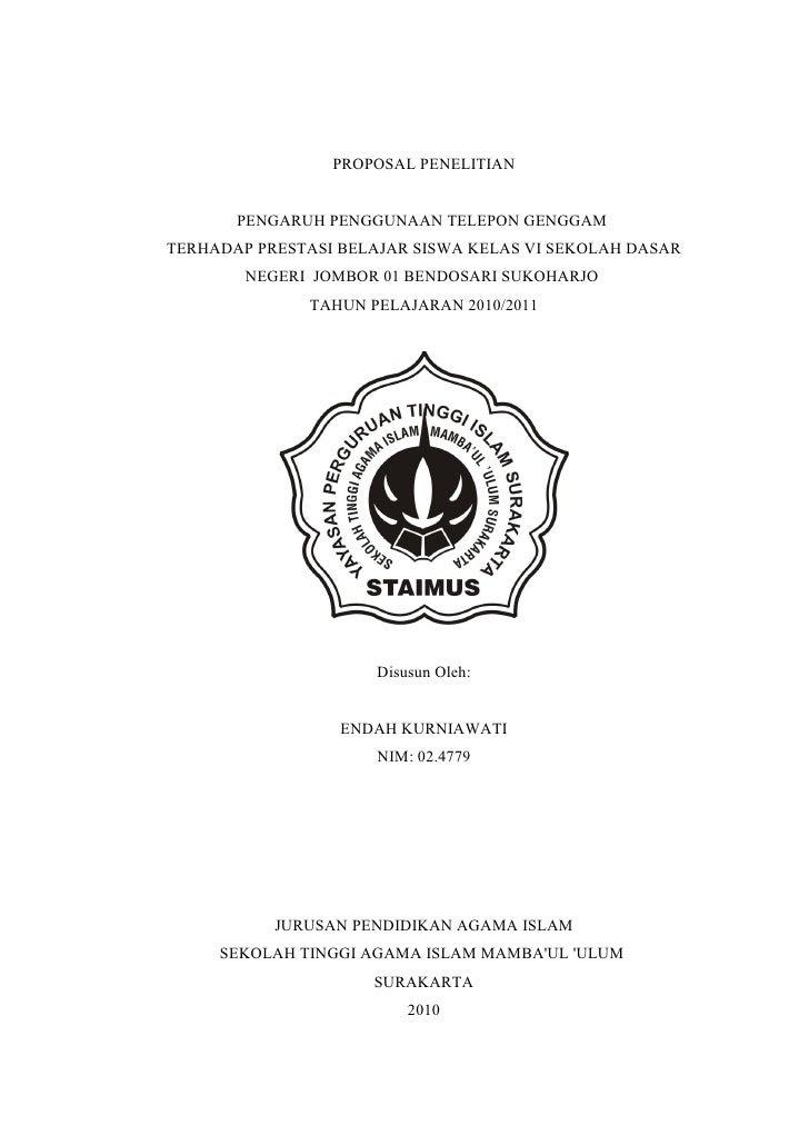 Contoh Proposal Skripsi Pai Tarbiyah Kualitatif Pdf Kumpulan Berbagai Skripsi