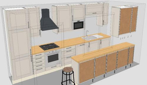 Galley Kitchen Layout at In Seven Colors – Colorful Designs ...