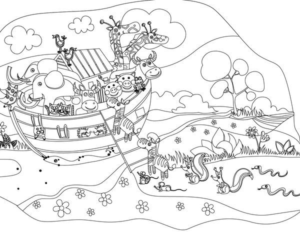 Free Noahs Ark Coloring Page Childrens Ministry Deals