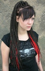 Hair Obsessed Black and Red Dreadlock Extensions photo