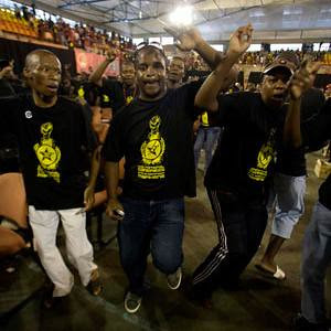 Delegates from the Young Communist League national conference in the Republic of South Africa. The YCL is the youth wing of the South African Communist Party. by Pan-African News Wire File Photos
