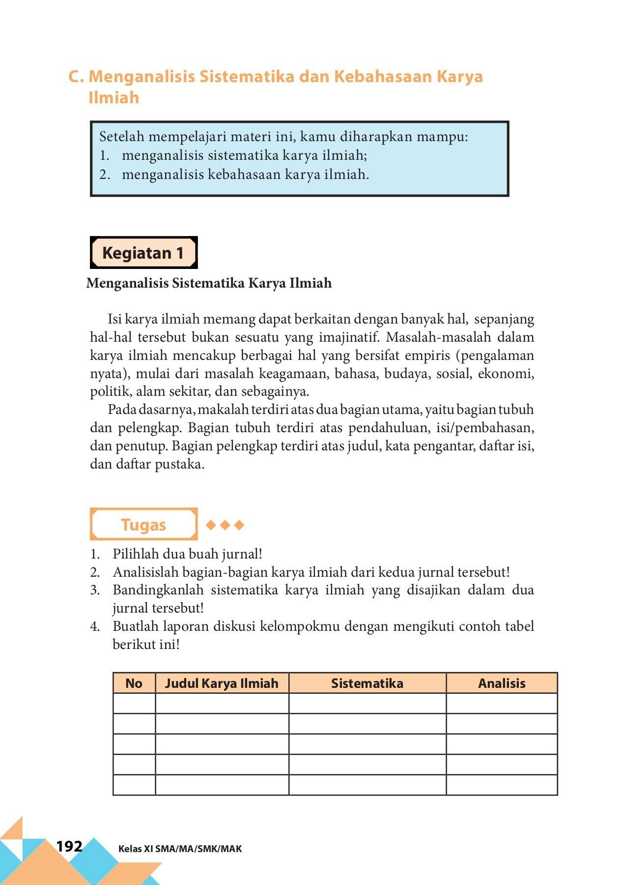 Kunci Jawaban Bahasa Indonesia Kelas 11 Halaman 195 ...