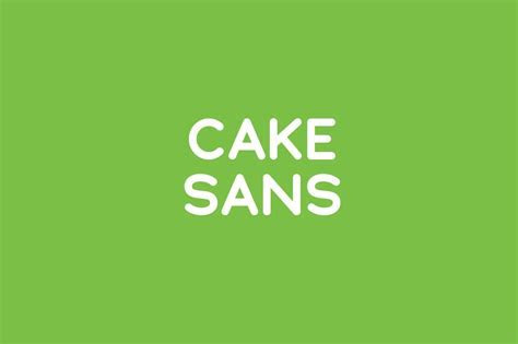 Cake Sans ~ Sans Serif Fonts ~ Creative Market