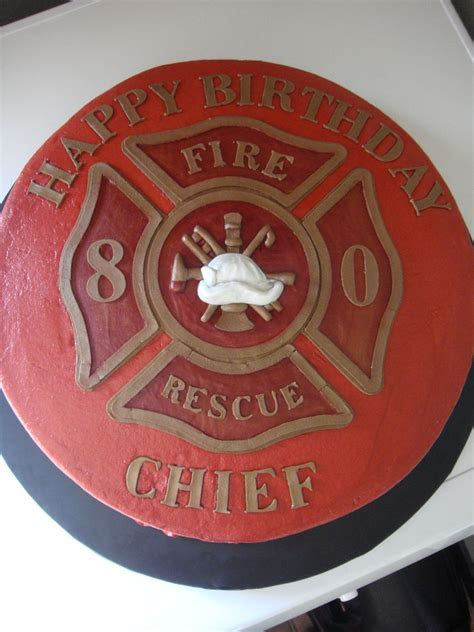 Fire Chief Birthday Cake   Birthday cakes in 2019