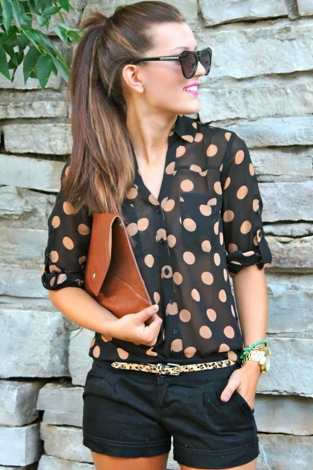 Blouse with cute shorts