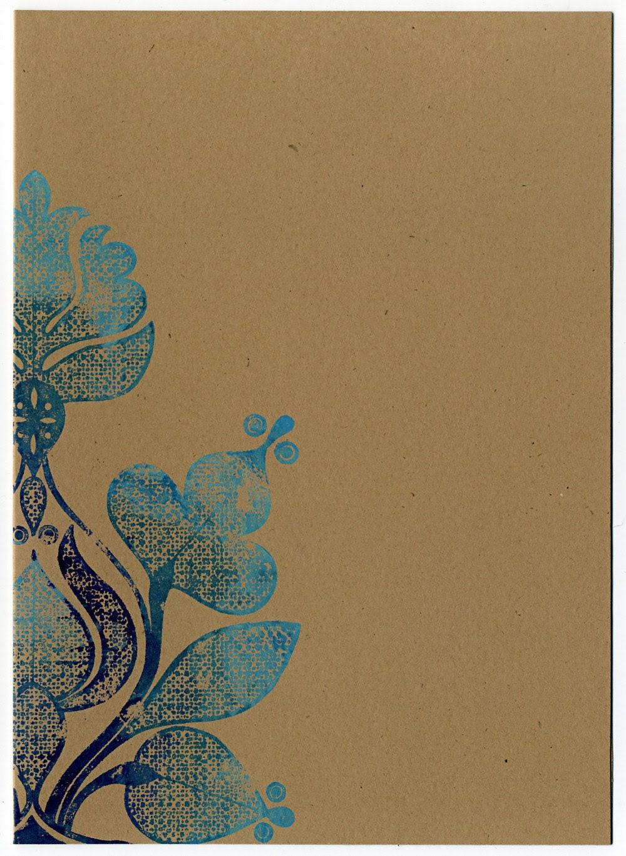 Blue Bloom Notecards, set of four