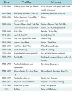 Daily Schedule For Stay At Home Mom | Daily Agenda Calendar
