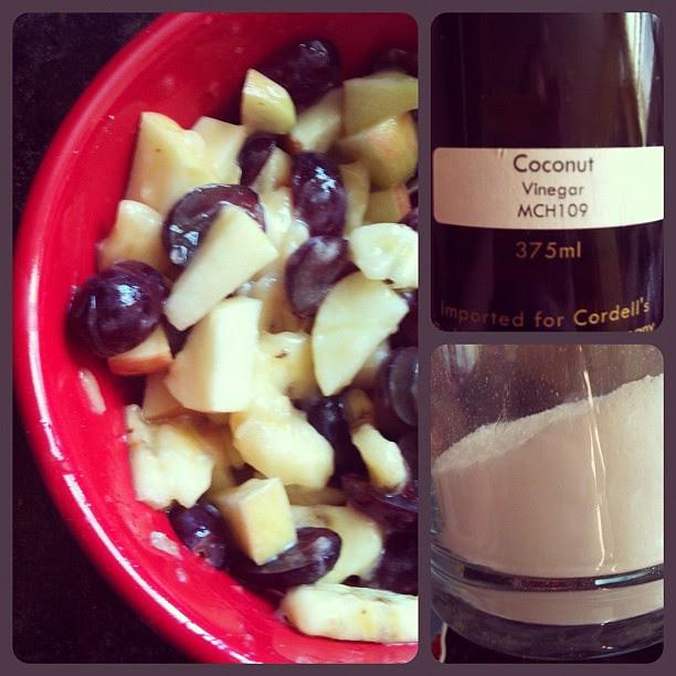 splenda. coconut vinegar. the ultimate fruit salad!