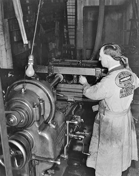 Scenes From Another Time – A Busy 1930s Auto Machine Shop