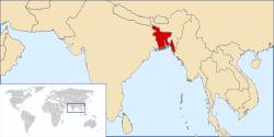 Location of Bangladesh
