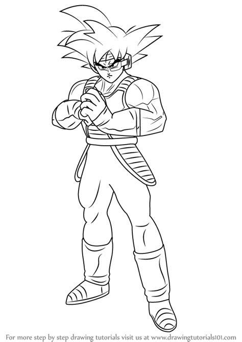 learn   draw bardock full body  dragon ball
