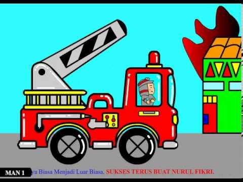 32 Ide Top Gambar Kartun Mobil Pemadam Kebakaran