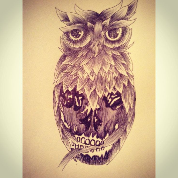 Pictures Of Owl And Skull Tattoo Designs Rock Cafe