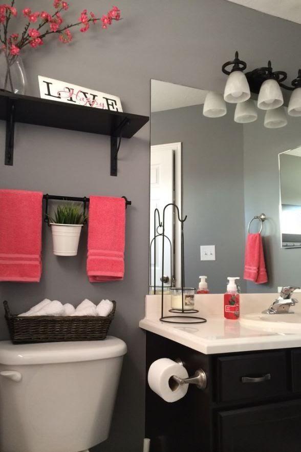Tiny Bathroom Ideas Pink