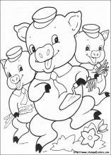 Disegni Di I Tre Porcellini Da Colorare