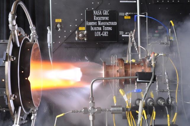 NASA injector testing