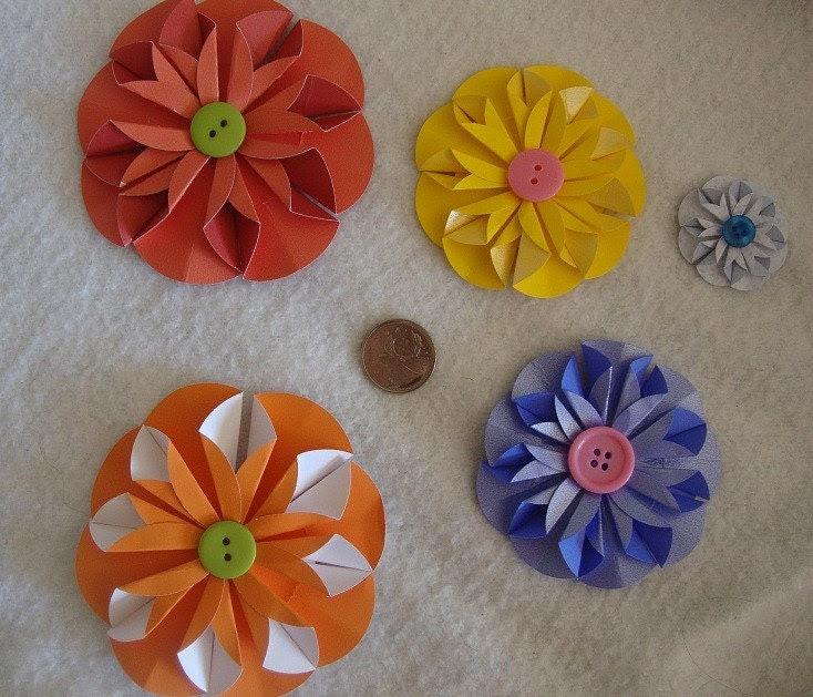 Small, Medium, Large flower embellishments -4