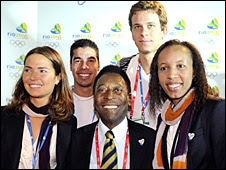 Pele promotes Rio's bid to host the 2016 Games