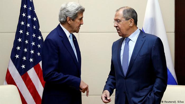 US-Außenminister John Kerry und sein russischer Amtskollege Sergej Lawrow hatten eine Feuerpause ausgehandelt (Reuters/J. Silva)