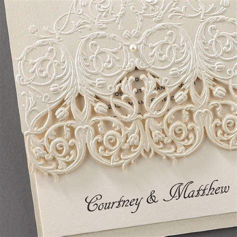 Wedding Stationery: Elegant Embossed Lace Invitations